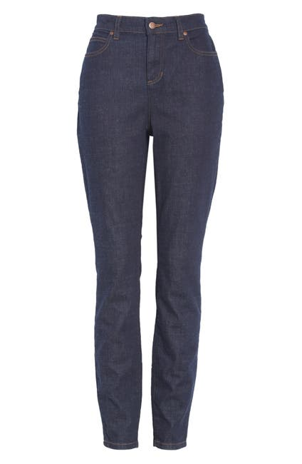Image of Eileen Fisher High Waist Stretch Organic Cotton Skinny Jeans