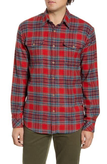Image of COASTAORO McGee Plaid Regular Fit Flannel Shirt