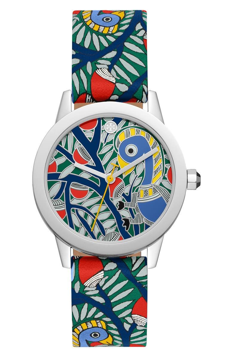 토리버치 Tory Burch Gigi Leather Strap Watch, 36mm,multi