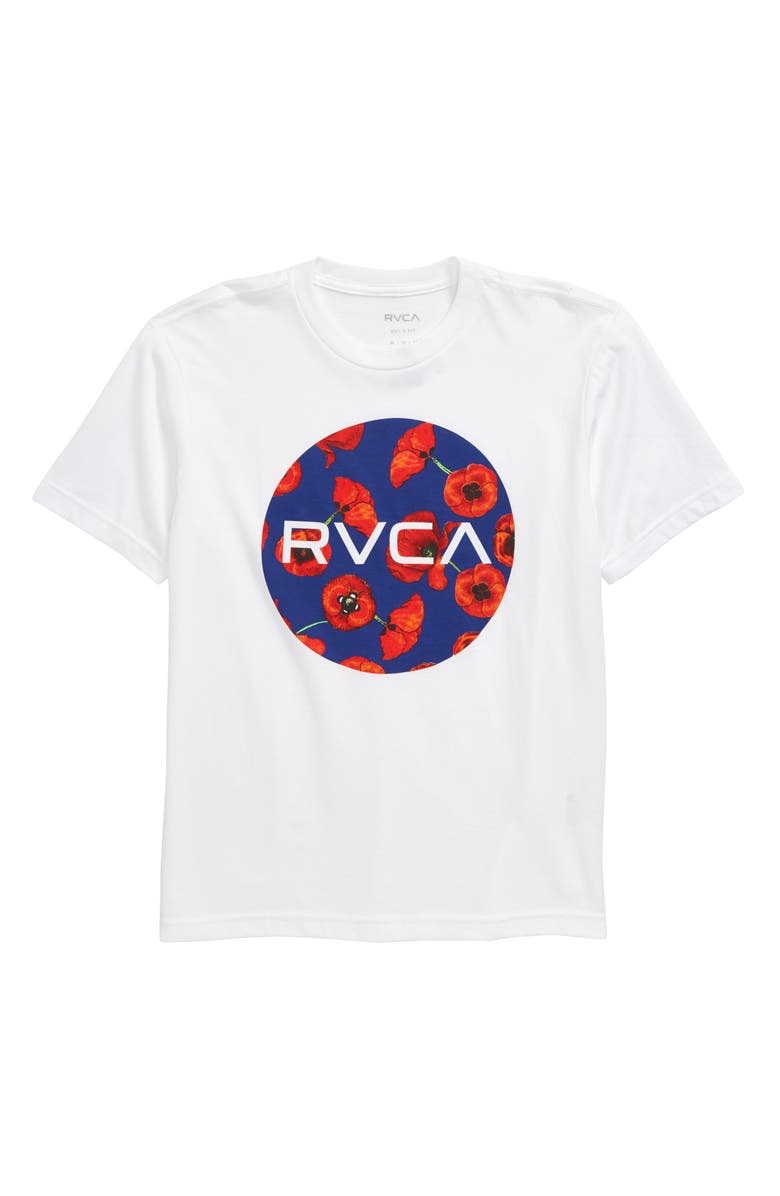 RVCA Motor Mix Graphic T-Shirt, Main, color, WHITE