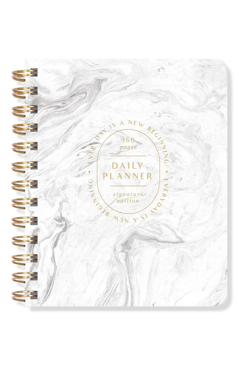 FRINGE STUDIO Daily Perpetual Planner, Main, color, MARBLE
