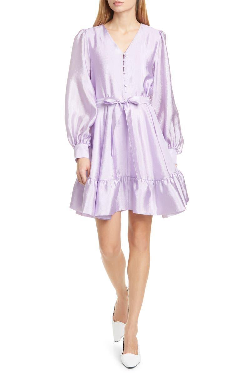 STINE GOYA Farrow Long Sleeve Minidress, Main, color, LILAC