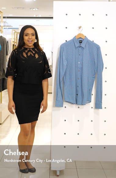 Robbie Slim Fit Micro Print Stretch Button-Up Shirt, sales video thumbnail