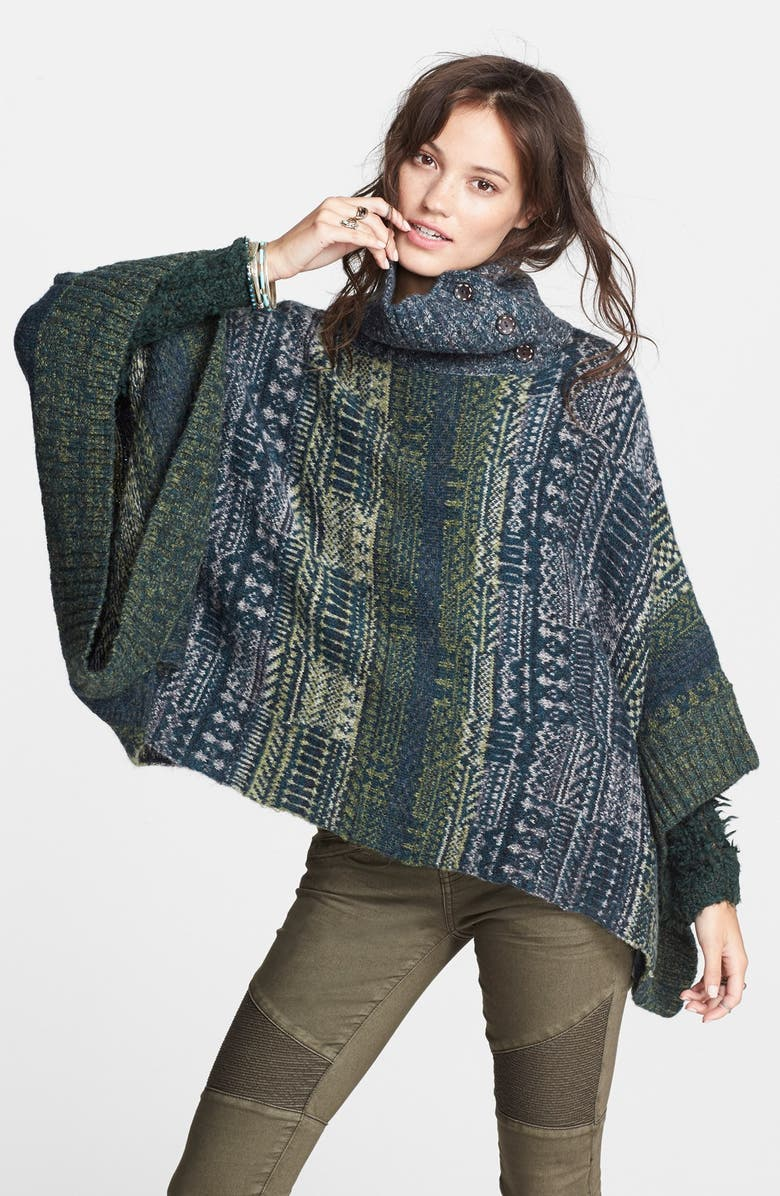 FREE PEOPLE 'Willow' Poncho, Main, color, 001