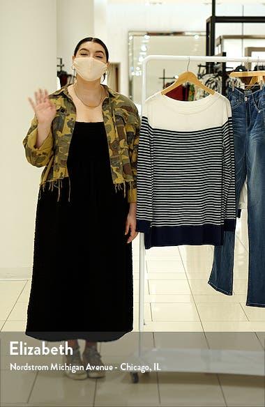 Women's Colorblock Stripe Sweater, sales video thumbnail