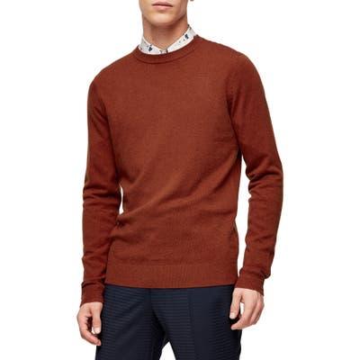Topman Premium Crewneck Sweater, Brown