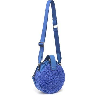 Botkier Montauk Woven Straw Crossbody Bag - Blue