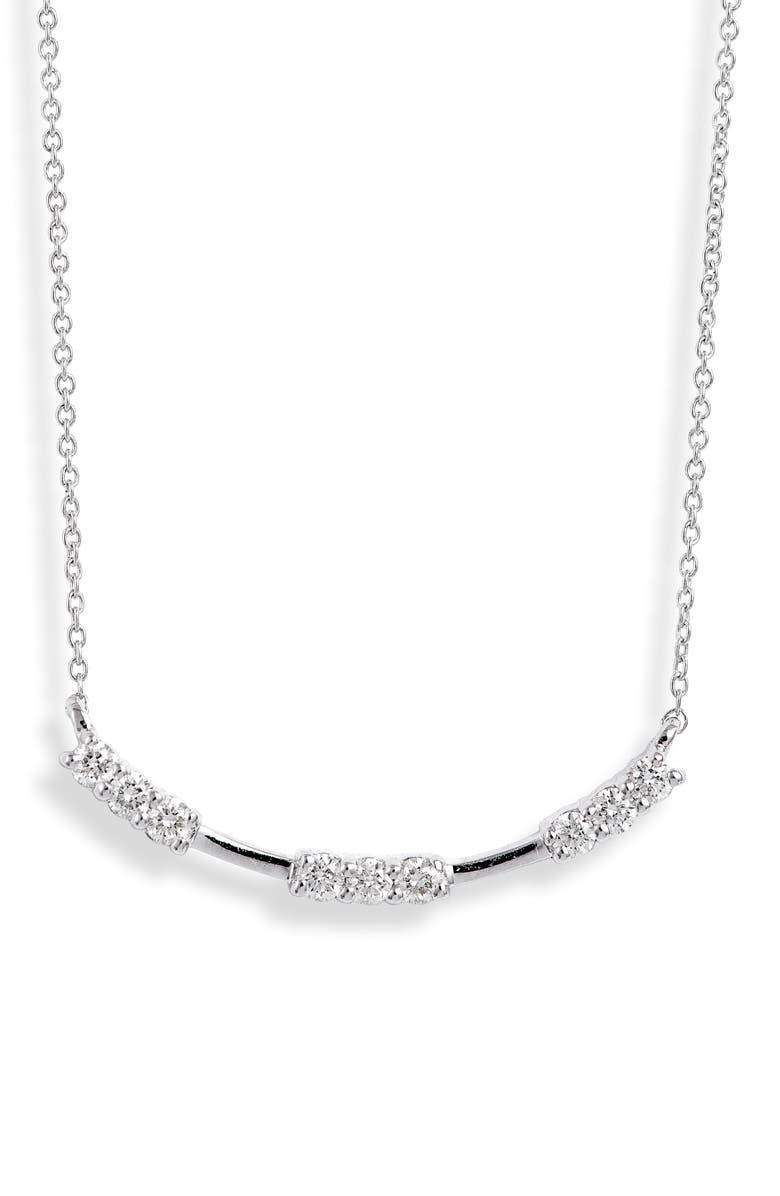 DANA REBECCA DESIGNS Nikki Joy Diamond Necklace, Main, color, WHITE GOLD