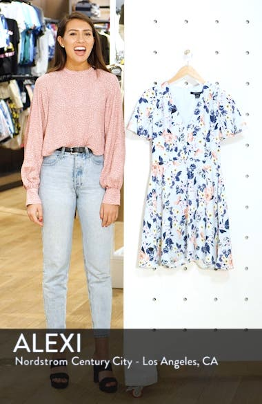 Armoise Floral Crepe Fit & Flare Dress, sales video thumbnail