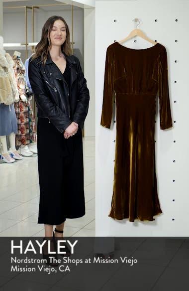 Tina Cowl Back Velvet Dress, sales video thumbnail