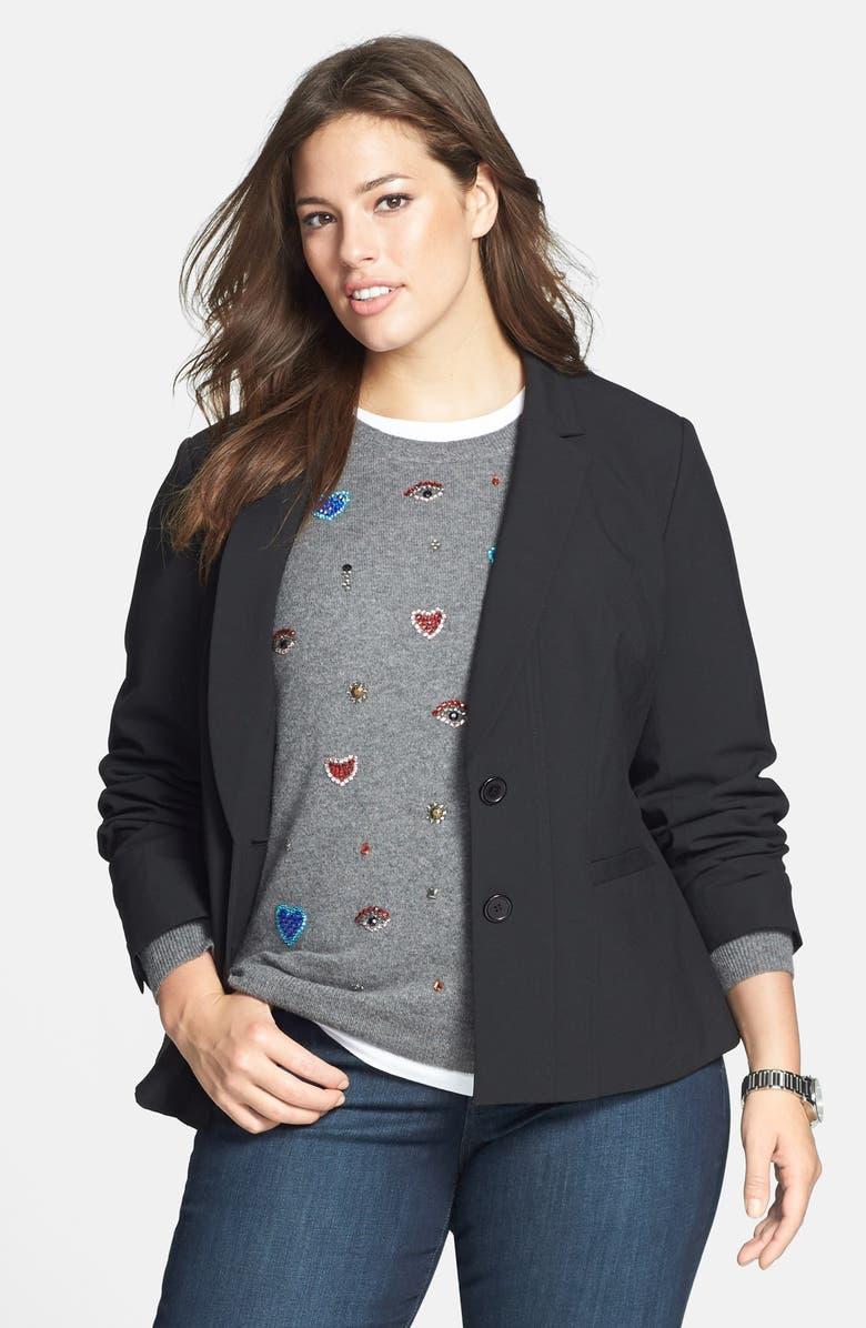 SEJOUR 'New Ela' Suit Jacket, Main, color, 001