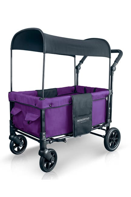 Image of WONDERFOLD Wagon Double Stroller Wagon - Violet