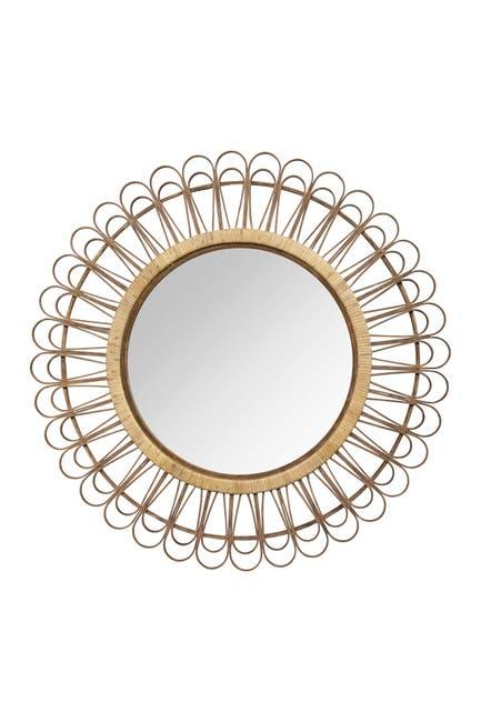 Image of Stratton Home Natural Tulum Rattan Mirror