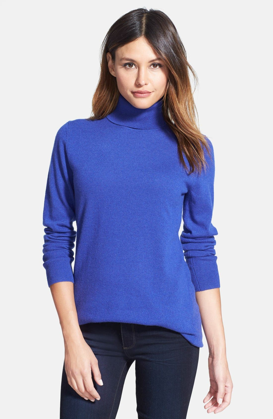 ,                             Long Cashmere Turtleneck Sweater,                             Main thumbnail 23, color,                             401