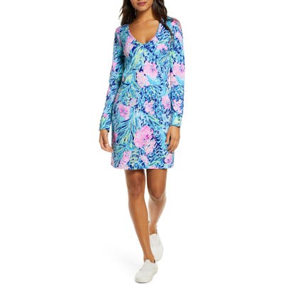 Lilly Pulitzer Davie Floral Long Sleeve Dress, Blue