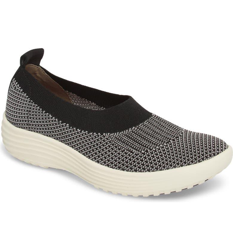 BIONICA Merigold Slip-On Sock Fit Sneaker, Main, color, BLACK/ MIST GREY FABRIC
