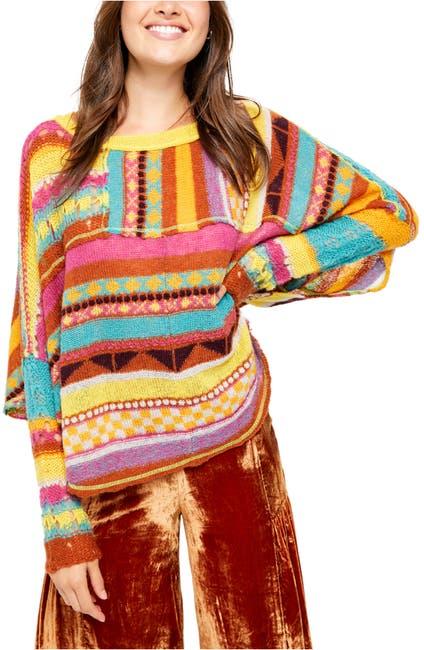 Image of Free People December Skies Knit Poncho