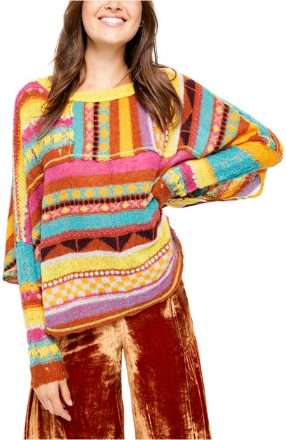 Free People Tops DECEMBER SKIES PONCHO