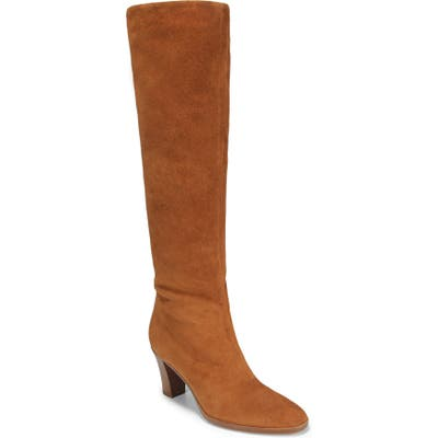 Vince Casper Knee High Pull-On Boot, Brown