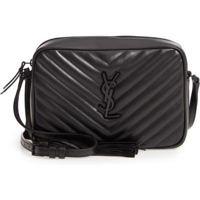 Saint Laurent Lou Matelasse Calfskin Leather Camera Bag - Black