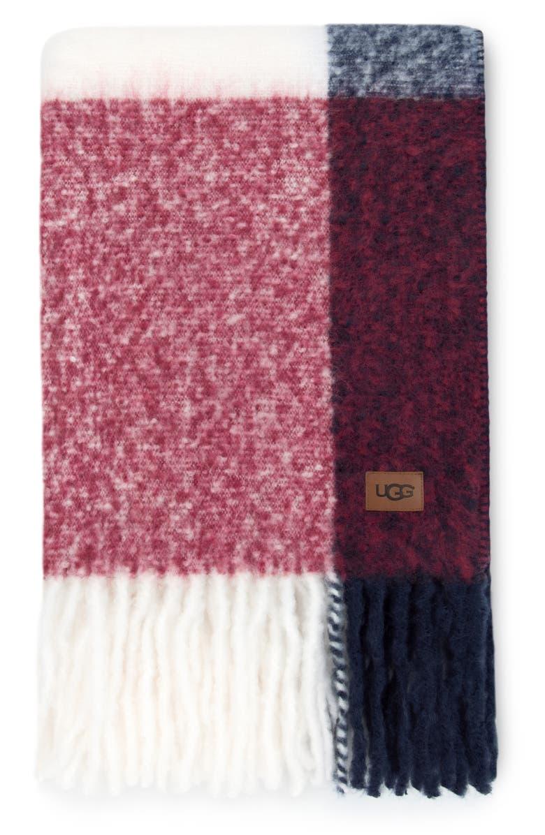 UGG<SUP>®</SUP> San Mateo Throw Blanket, Main, color, DENIM MULTI