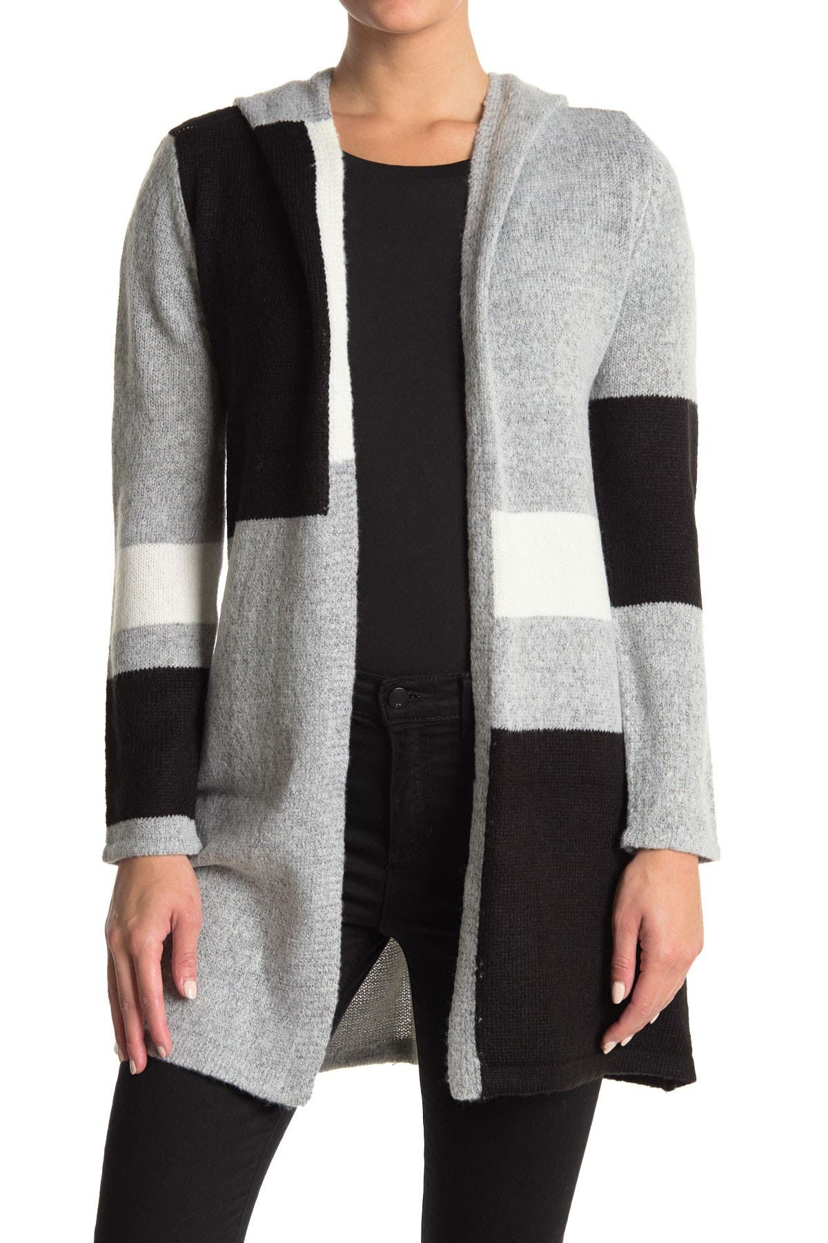 Image of Love by Design Apollo Hooded Pattern Cardigan