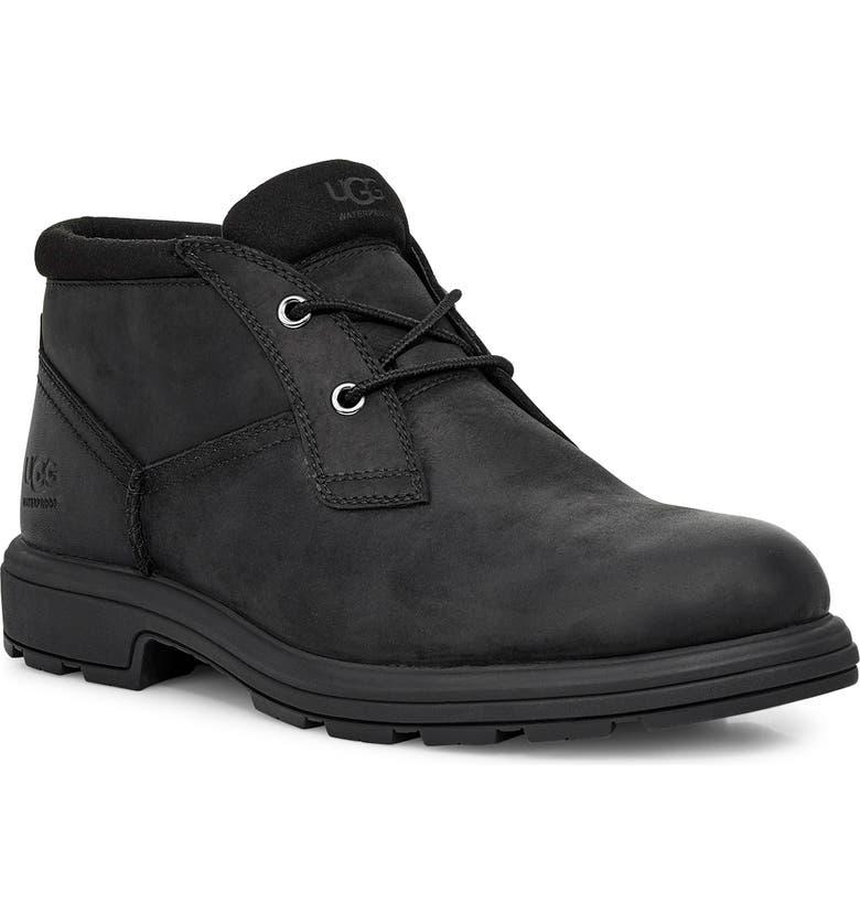 UGG<SUP>®</SUP> Biltmore Waterproof Plain Toe Boot, Main, color, BLACK/ BLACK