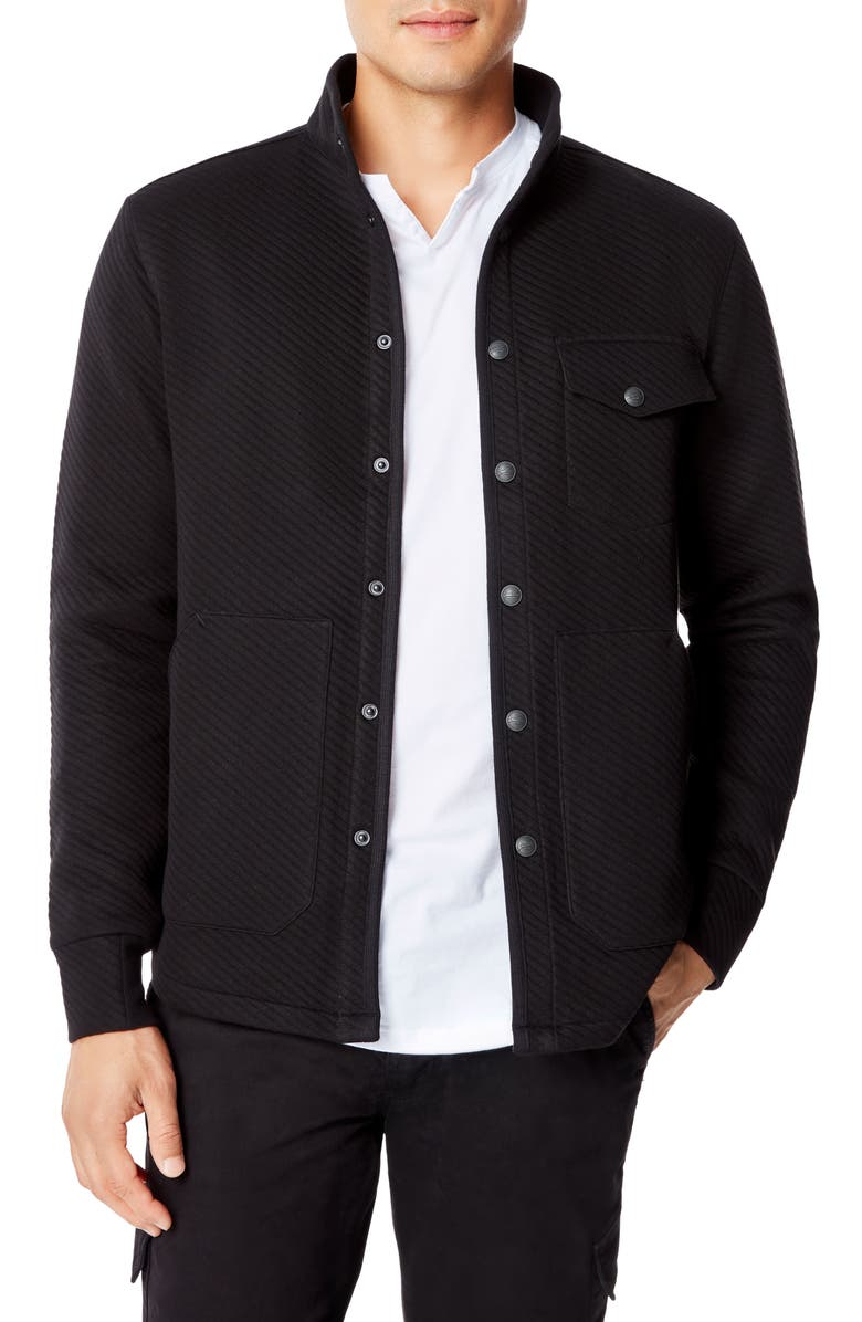 GOOD MAN BRAND Fuji Shirt Jacket, Main, color, BLACK