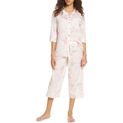 Papinelle Water Blossom Crop Pajamas, Pink