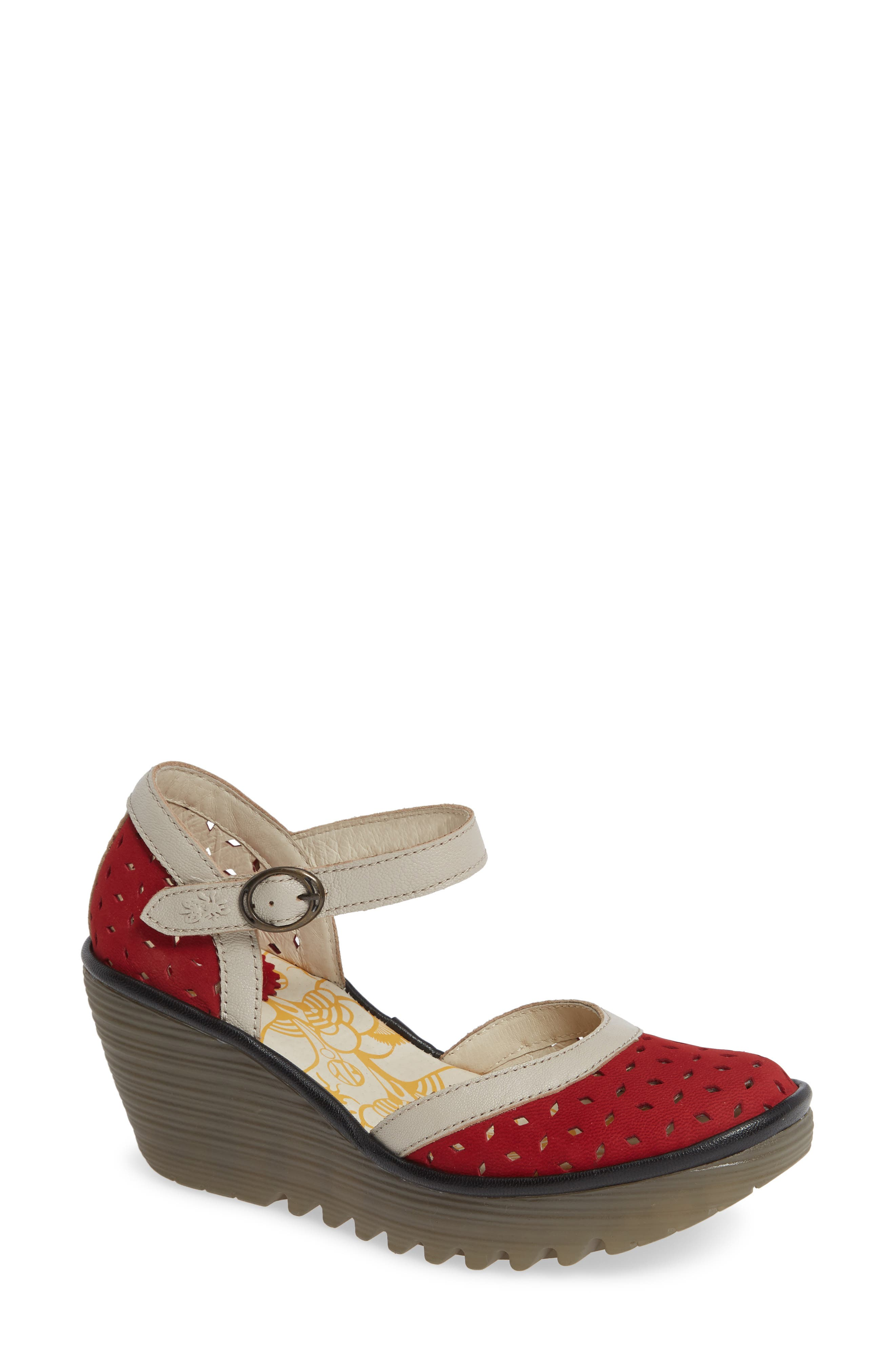Fly London Yven Wedge, Red