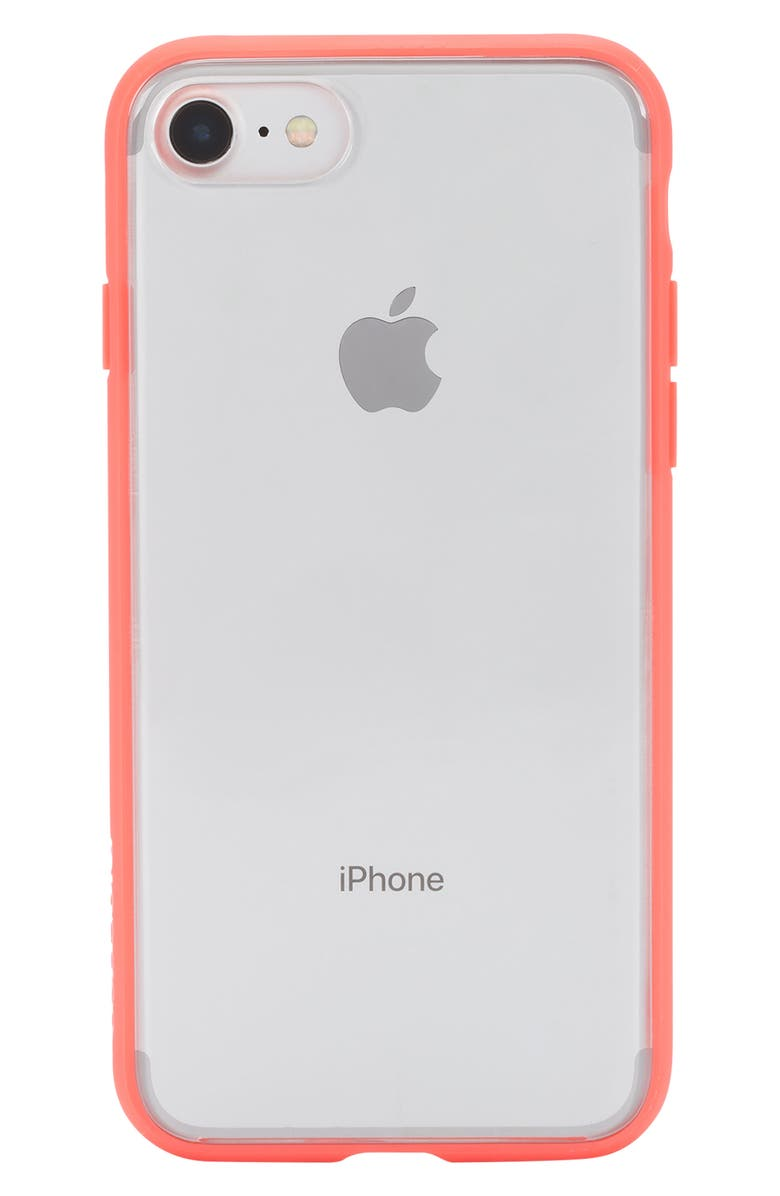 INCASE DESIGNS Pop Case Clear iPhone 7/8 Case, Main, color, CORAL