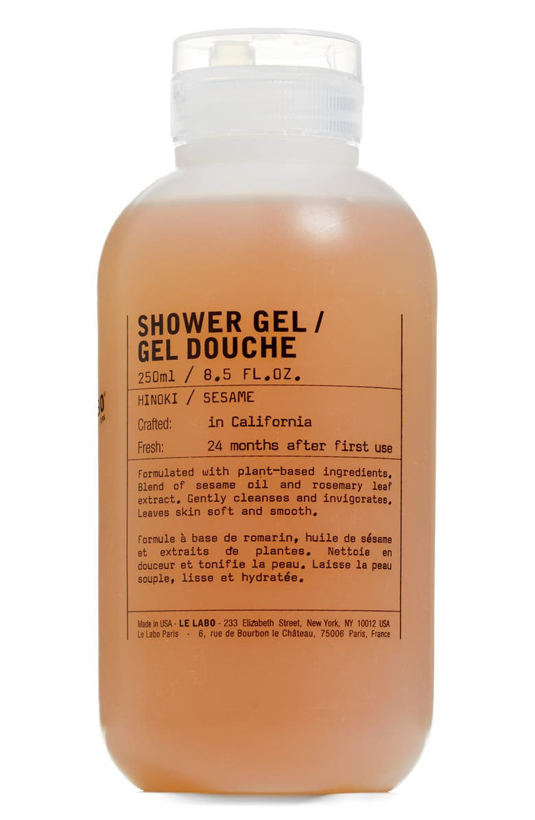 LE LABO Shower Gel Hinoki, Main, color, NO COLOR