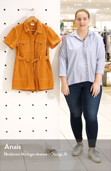 Urban Outfitters Stevie Belted Cotton Romper, sales video thumbnail