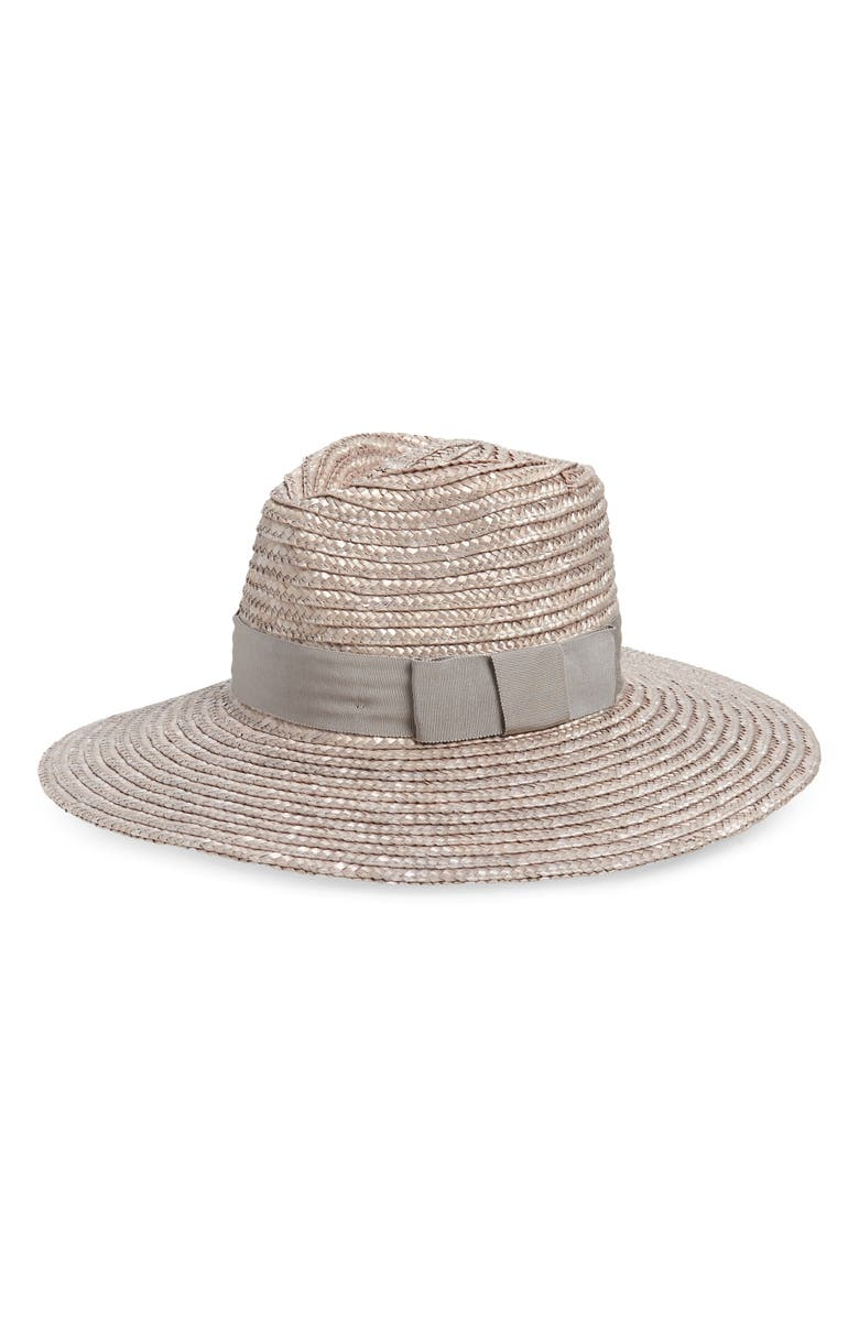 BRIXTON Joanna Straw Hat, Main, color, SILVER