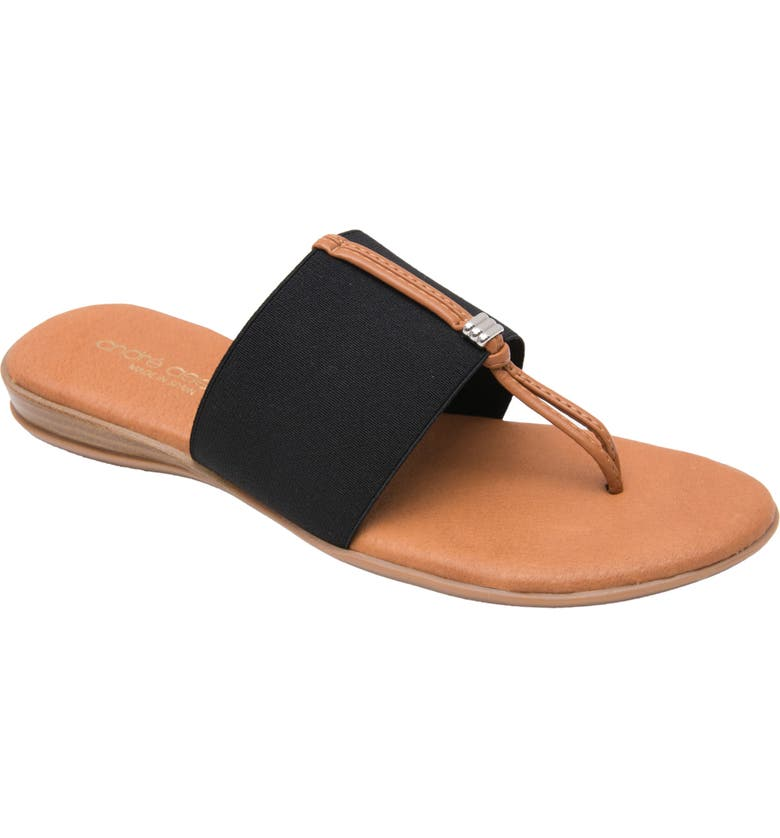 ANDRÉ ASSOUS Nice Sandal, Main, color, BLACK FABRIC