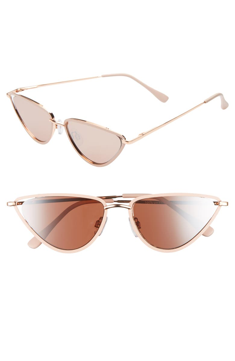 BP. 60mm Cat Eye Sunglasses, Main, color, GOLD/ROSE GOLD