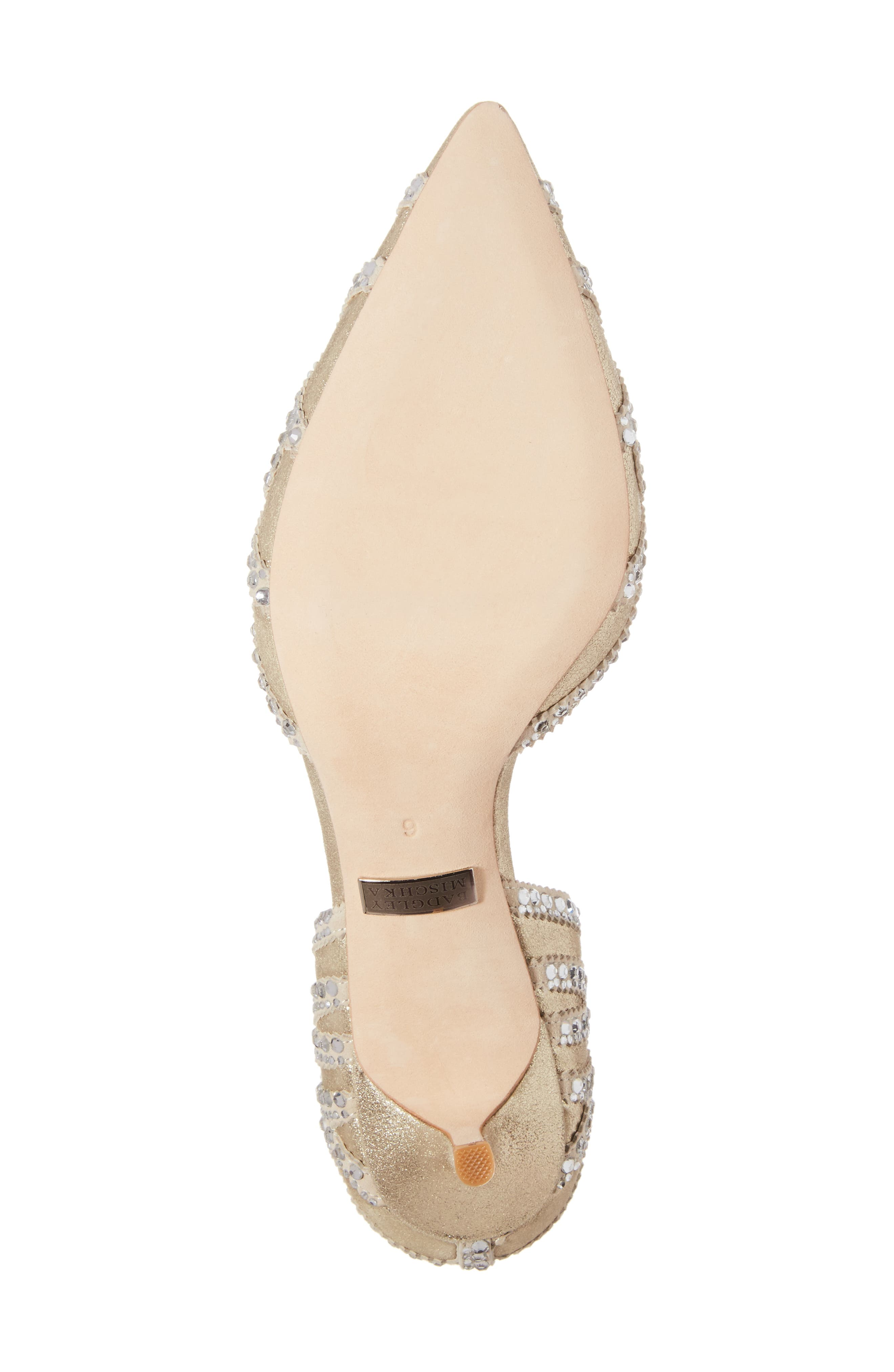 ,                             Badgley Mischka 'Ginny' Embellished d'Orsay Pump,                             Alternate thumbnail 6, color,                             PLATINO METALLIC SUEDE