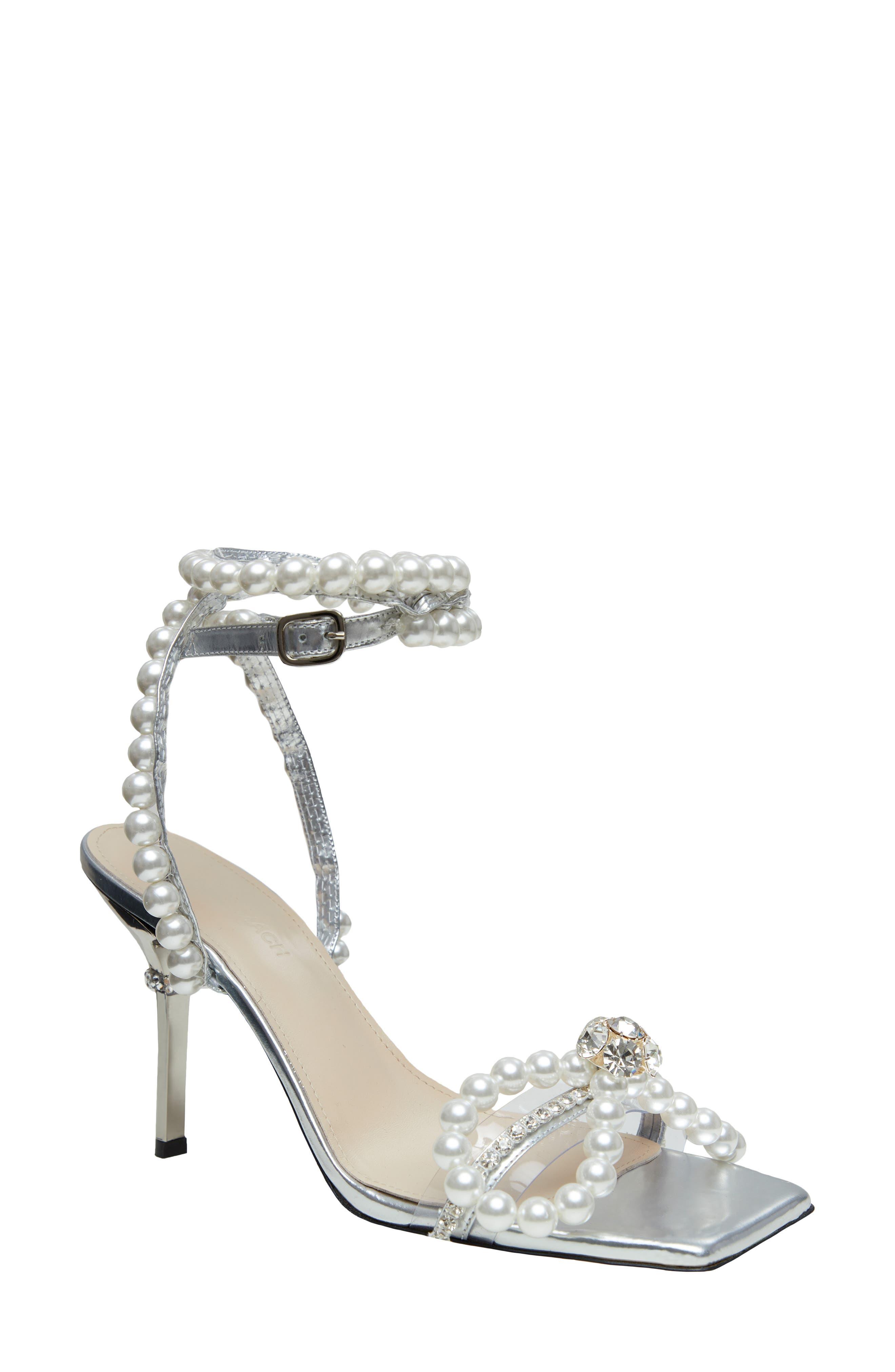 Imitation Pearl Bow Sandal