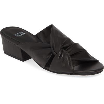 Eileen Fisher Petula Twisted Slide Sandal, Black
