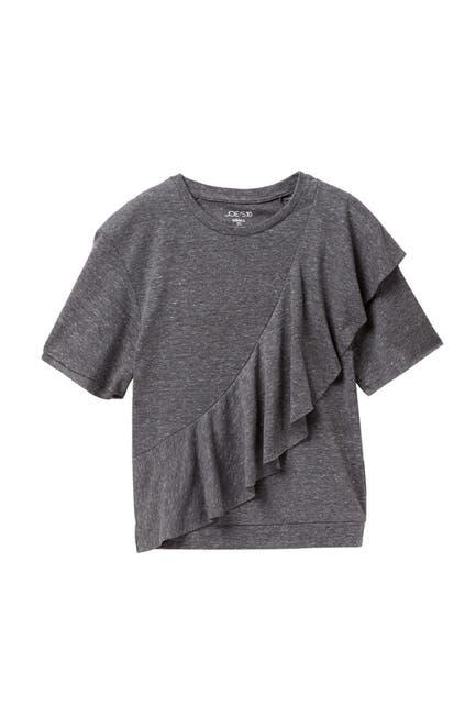 Image of Joe's Jeans Melange Jersey Ruffle T-Shirt