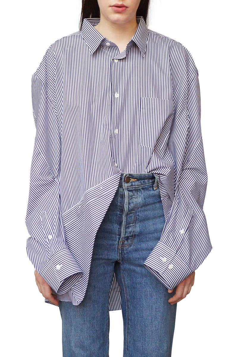 VETEMENTS Stripe Cotton Shirt, Main, color, 415