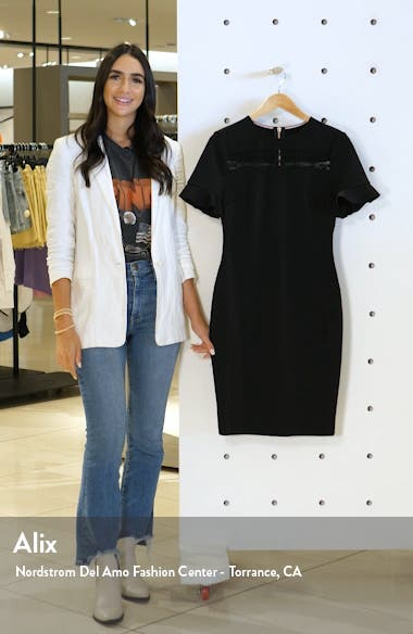 Lace Inset Sheath Dress, sales video thumbnail