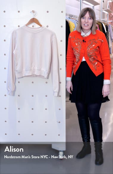 Milan Tie Dye Crop Sweatshirt, sales video thumbnail