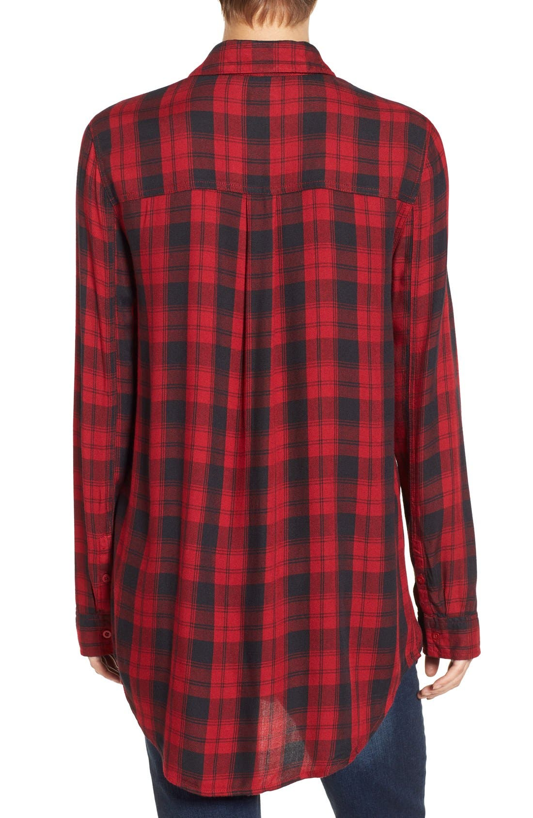 ,                             Plaid Tunic Shirt,                             Alternate thumbnail 38, color,                             610