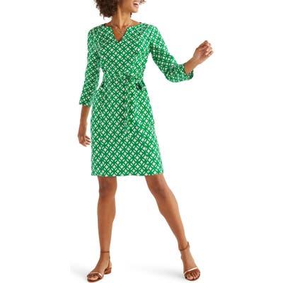 Boden Kelsey Belted Linen Dress, Green