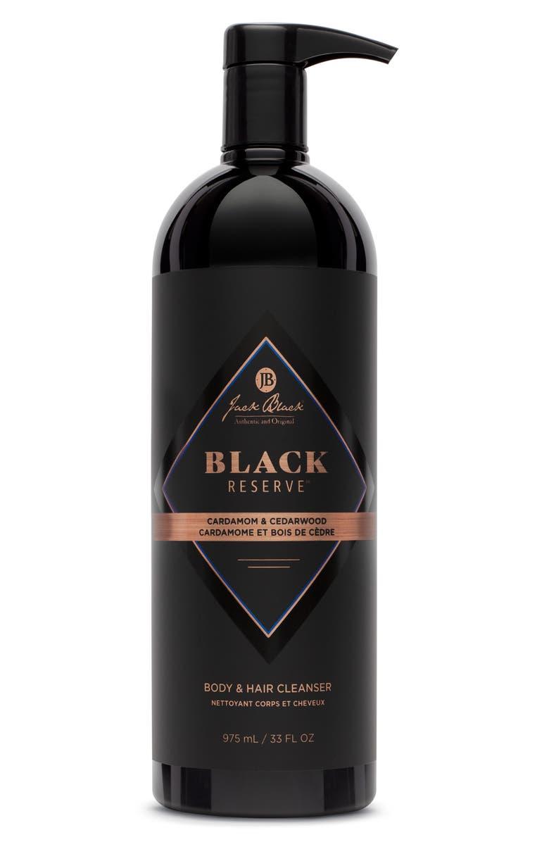 JACK BLACK Jumbo Black Reserve Body & Hair Cleanser, Main, color, NO COLOR