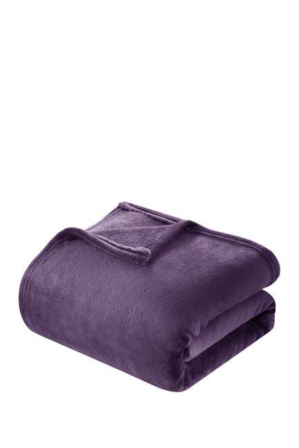 Image of Chic Home Bedding Full/Queen Savaya Fleece Blanket - Plum