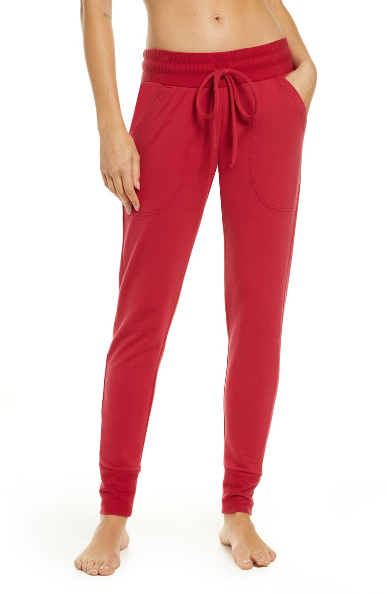 FREE PEOPLE FP MOVEMENT Sunny Skinny Sweatpants, Main, color, RINGSIDE RED