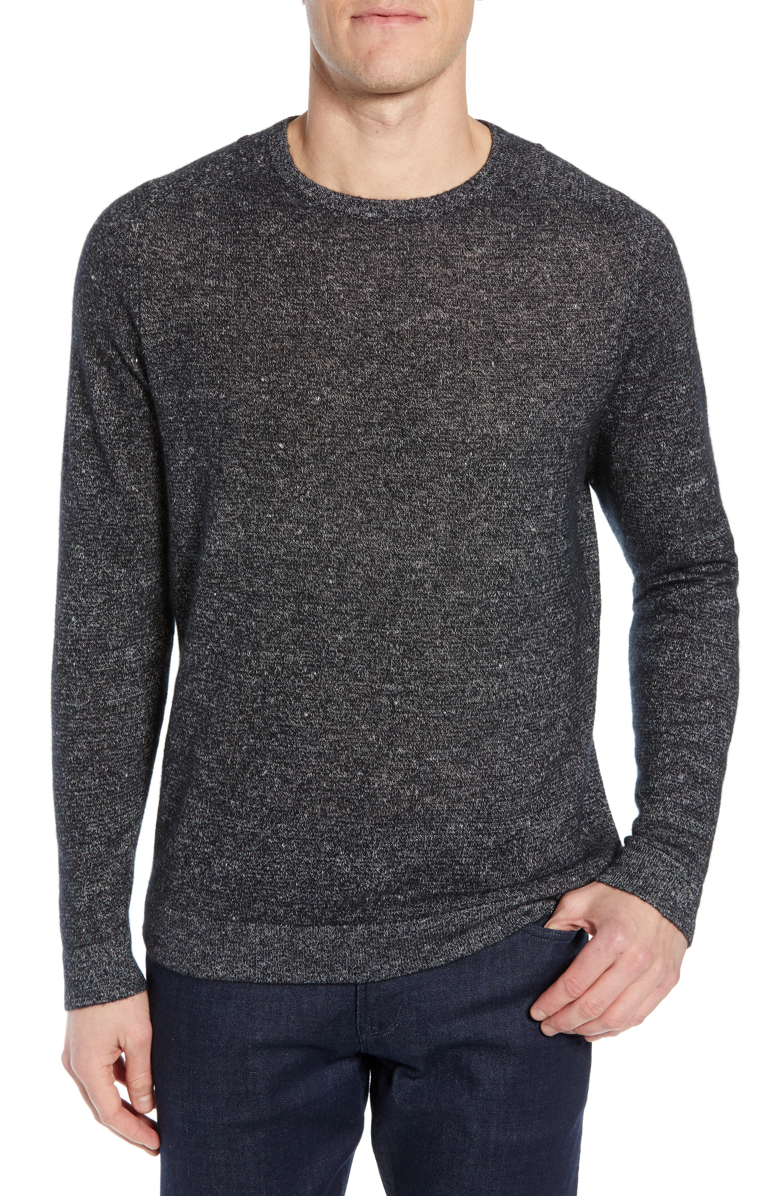 Nordstrom Signature Cashmere & Linen Crewneck Sweater
