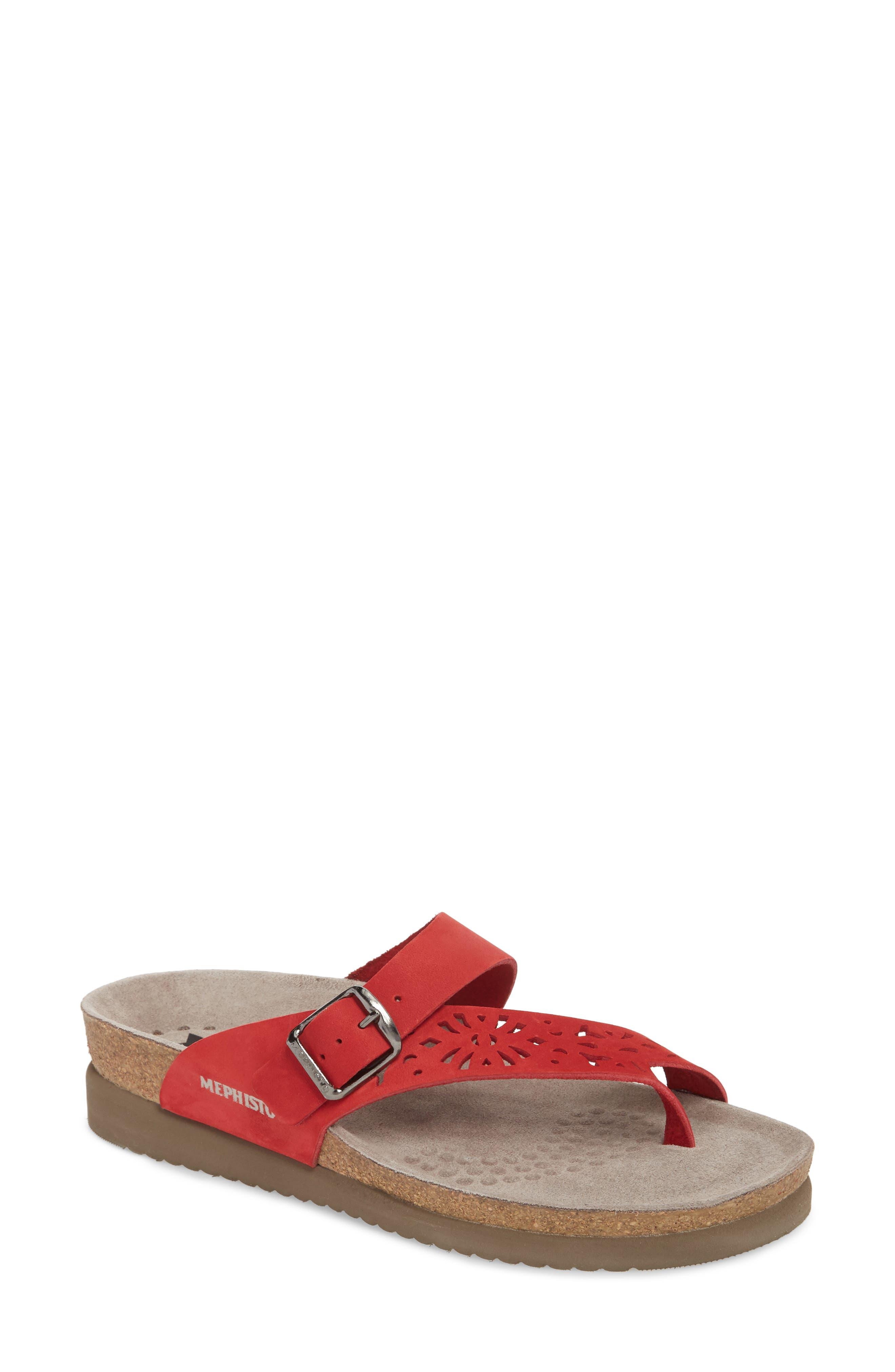 Mephisto Helen Perf Slide Sandal, Red